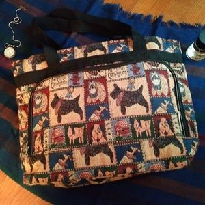 Bovano U.S.A. Dog Theme Bag Tote Large Multicolor